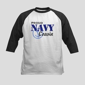 Proud Navy Cousin Kids Baseball Jersey