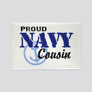 Proud Navy Cousin Rectangle Magnet