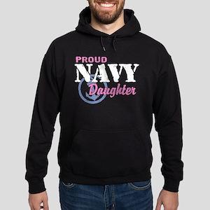 Proud Navy Daughter Hoodie (dark)