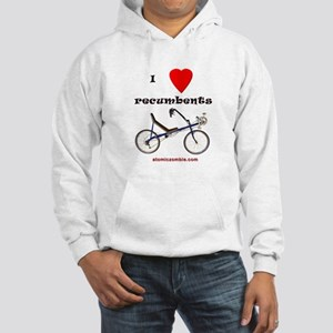 Hooded Sweatshirt - I love recumbents
