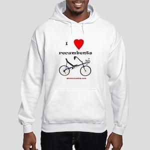 Hooded Sweatshirt - I love recumbents