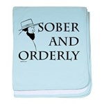 Sober and Orderly baby blanket