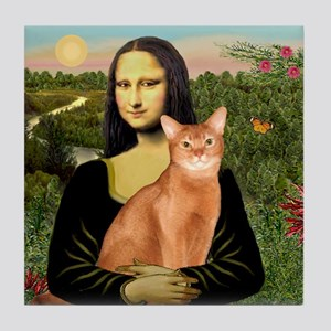 Mona's Red Abyssinian Tile Coaster