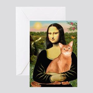 Mona's Red Abyssinian Greeting Card