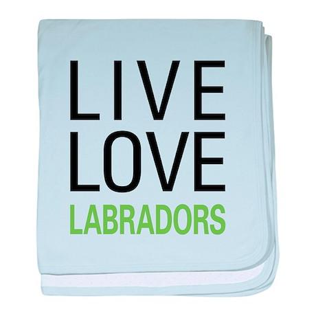 Live Love Labradors baby blanket