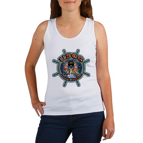USCG COAST GUARD SKULL Women's Tank Top