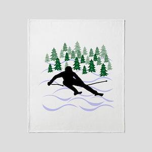 Ski Moguls Throw Blanket