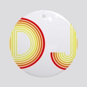 DJ Round Ornament