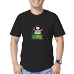 Hula Penguin Men's Fitted T-Shirt (dark)