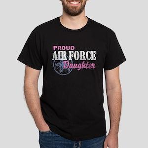 Proud Air Force Daughter Dark T-Shirt