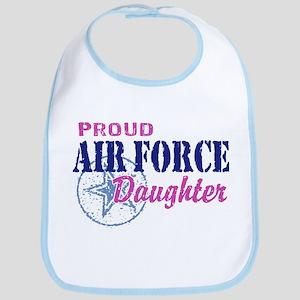 Proud Air Force Daughter Bib