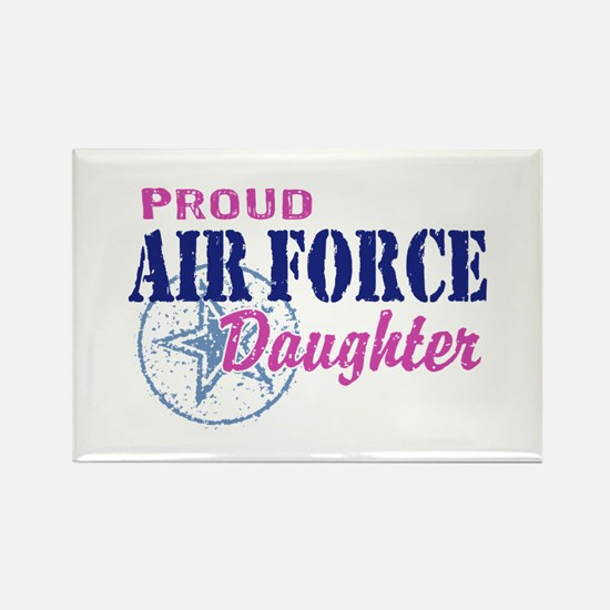 Proud Air Force Daughter Rectangle Magnet