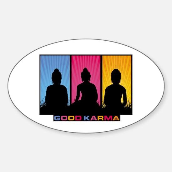 Good Karma Buddhas Sticker (Oval)