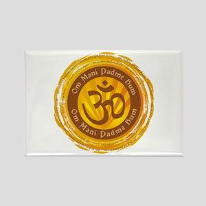 Tibetan Mantra Om Symbol Rectangle Magnet
