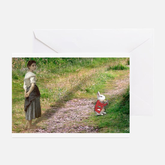 Follow The White Rabbit Greeting Cards (Pk of 10)