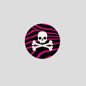 Goth Skull Mini Button