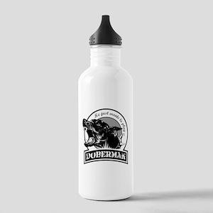 Doberman white Stainless Water Bottle 1.0L