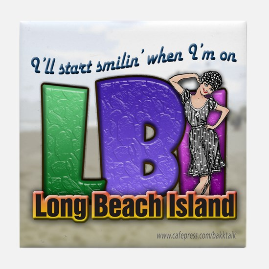 Smilin' on the Island... Tile Coaster