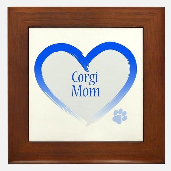 Pug Mom Framed Tile