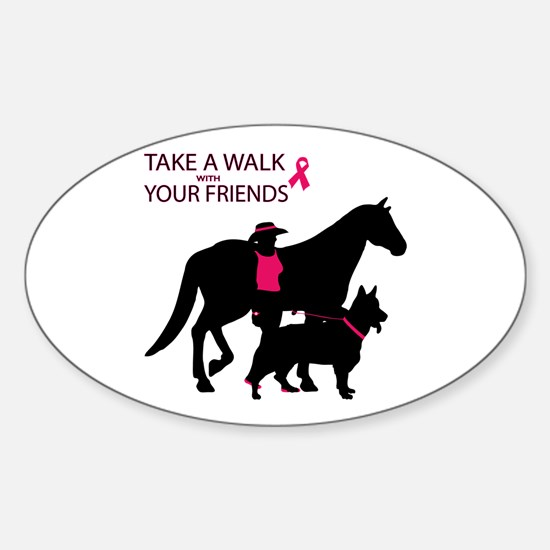Cute Think pink Sticker (Oval)