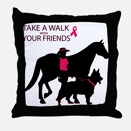Cool Think pink Throw Pillow