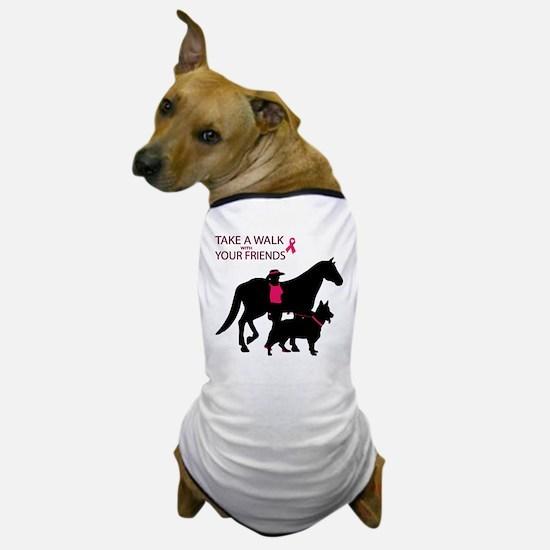 Cute Breast cancer walk Dog T-Shirt