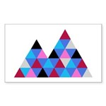 Snow Mountains Sticker (Rectangle 10 pk)