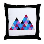 Snow Mountains Throw Pillow