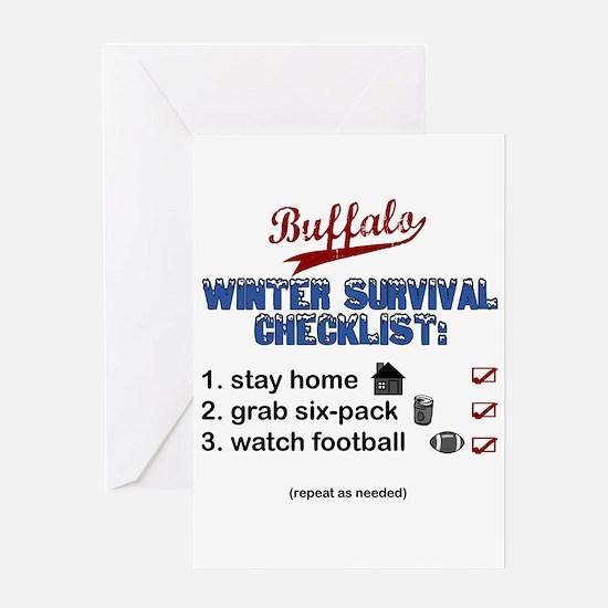 """Buffalo Winter Survival"" Greeting Card"
