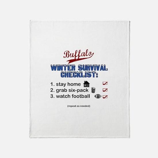 """Buffalo Winter Survival"" Throw Blanket"