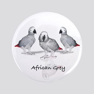 "african grey parrot 3.5"" Button"