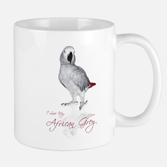 i love my african grey Mug