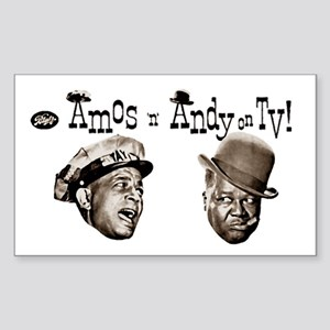 Amos 'n' Andy Sticker (Rectangle)