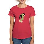 Green Dragon Puppy Women's Dark T-Shirt