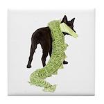 Green Dragon Puppy Tile Coaster