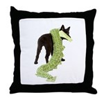 Green Dragon Puppy Throw Pillow