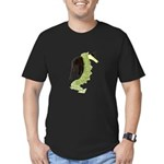Green Dragon Puppy Men's Fitted T-Shirt (dark)