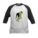 Green Dragon Puppy Kids Baseball Jersey