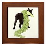 Green Dragon Puppy Framed Tile