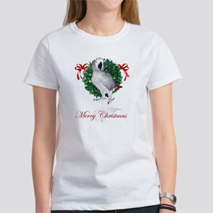 african grey christmas Women's T-Shirt
