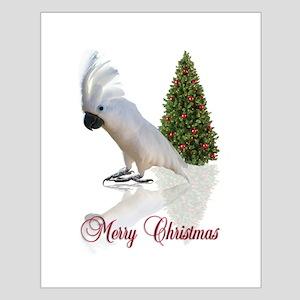 cockatoo christmas Small Poster