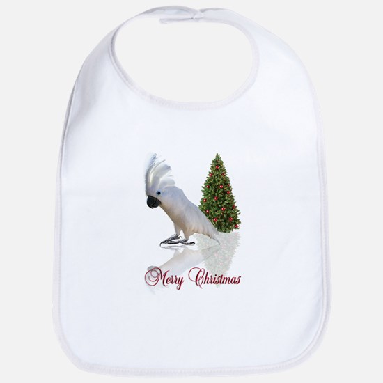 cockatoo christmas Bib