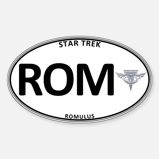 Romulus White Oval Sticker (Oval)