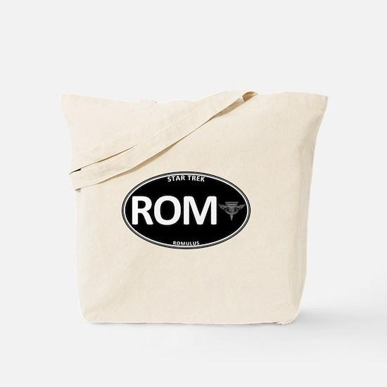 Romulus Black Oval Tote Bag
