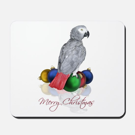 african grey christmas Mousepad