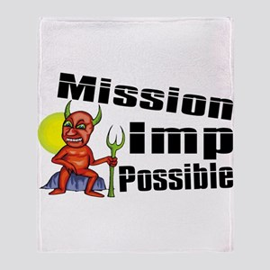 Mission Imp Possible Throw Blanket