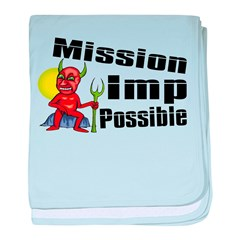 Mission Imp Possible baby blanket