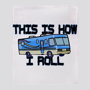 How I Roll RV Throw Blanket