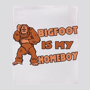 Bigfoot Is My Homeboy Throw Blanket