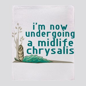 Midlife Chrysalis Throw Blanket
